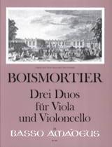 3 Duos Pour Alto et Violoncelle BOISMORTIER Partition laflutedepan.com