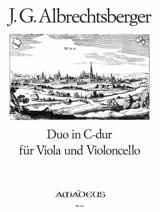 Johann Georg Albrechtsberger - Duo in C-Dur für Viola und Violoncello - Partition - di-arezzo.fr
