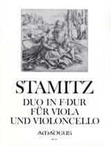 Carl Stamitz - Duo in F-Dur für Viola und Violoncello - Partition - di-arezzo.fr