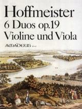 Franz Anton Hoffmeister - 6 Duos op. 19 für Violine und Viola - Partition - di-arezzo.fr