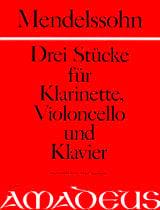 3 Stücke - Klarinette Violoncello Klavier MENDELSSOHN laflutedepan.com