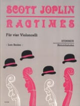 Ragtimes für 4 Violoncelli - Stimmen Scott Joplin laflutedepan.com