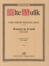 Carl Philipp Emanuel Bach - Konzert In D-Moll Wotq 22 - Klavier Flute - Sheet Music - di-arezzo.co.uk