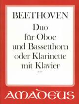 BEETHOVEN - Duo für Oboe, Bassethorn o. Klarinette u. Klavier - Sheet Music - di-arezzo.com