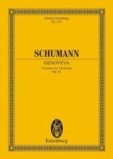 Genoveva, Ouvertüre SCHUMANN Partition Petit format - laflutedepan.com