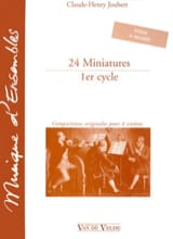 Claude-Henry Joubert - 24 Miniatures - 1st cycle - Sheet Music - di-arezzo.com