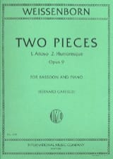 Julius Weissenborn - 2 Pieces - Bassoon and Piano - Sheet Music - di-arezzo.co.uk