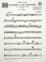 VIVALDI - Concerto in C Maj. - F. 9 n ° 1 - Equipment - Sheet Music - di-arezzo.co.uk