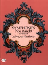 BEETHOVEN - Symphonies N ° 8 - 9 - Full Score - Sheet Music - di-arezzo.co.uk