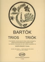Trios from Choral Works Béla Bartok Partition laflutedepan.com
