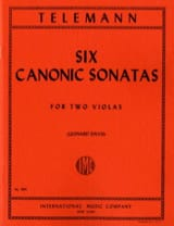 TELEMANN - 6 canonical sonatas for 2 violas - Sheet Music - di-arezzo.co.uk
