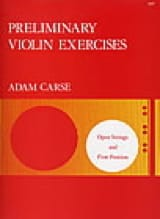 Adam Carse - Preliminary violin exercices - Partition - di-arezzo.fr