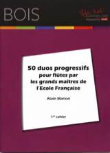 Alain Marion - 50 Duos progressifs pour flûtes - Partition - di-arezzo.fr