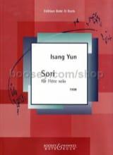 Isang Yun - Sori – Flöte solo - Partition - di-arezzo.fr