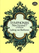 BEETHOVEN - Symphonies N ° 5, 6 and 7 - Full Score - Sheet Music - di-arezzo.co.uk