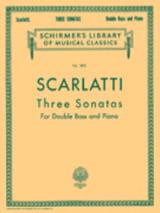 3 Sonatas - Double bass Piano Alessandro Scarlatti laflutedepan.com
