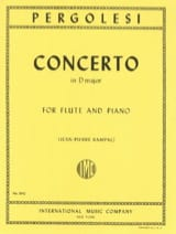 Giovanni Battista Pergolesi - Concerto in D major - Flute piano - Sheet Music - di-arezzo.co.uk