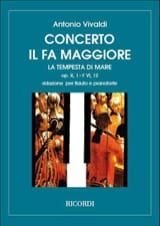 Concerto en Fa Maj. La Tempesta di Mare - F. 6 n° 12 - Flûte/Piano - laflutedepan.com
