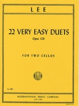 22 Very Easy Duets Op. 126 Sebastian Lee Partition laflutedepan