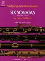 6 Sonates, KV 10-15- Flûte piano MOZART Partition laflutedepan.com