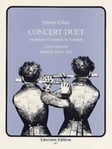 Concert Duet - 2 flûtes et piano - Ernesto KÖHLER - laflutedepan.com