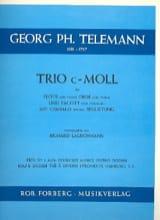 TELEMANN - Trio c-moll - Flöte Oboe Fagott Cembalo - Partition - di-arezzo.fr
