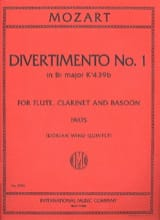MOZART - Divertimento n° 1 KV 439a in Bb major - Parts - Partition - di-arezzo.fr