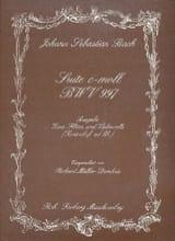 Johann Sebastian Bach - Suite c-moll BWV 997 –2 Flöten Violoncello - Partition - di-arezzo.fr