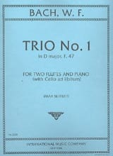 Trio n° 1 in D major F. 47 – 2 flutes piano - laflutedepan.com