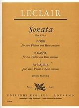 Sonate F-Dur op. 4 Nr. 4 -2 Violine u. Bc LECLAIR laflutedepan