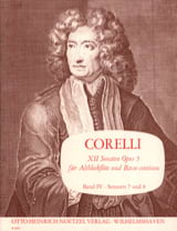 CORELLI - 12 Sonaten op. 5 - Bd. 4 - Altblockflöte u. Bc - Sheet Music - di-arezzo.co.uk