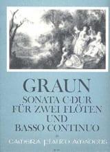 Carl Heinrich Graun - Sonata C-Dur –2 Flöten Bc - Partition - di-arezzo.fr