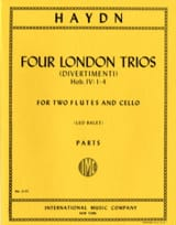 Joseph Haydn - 4 London Trios – 2 Flutes cello - Parts - Partition - di-arezzo.fr