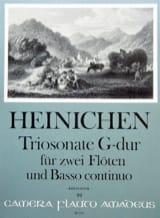 Triosonate G-Dur -2 Flöten Bc HEINICHEN Partition laflutedepan