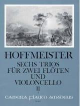 Franz Anton Hoffmeister - 6 Trios op. 31 - Bd. 2: Nr. 4-6 - 2 Flöten Violoncello - Stimmen - Sheet Music - di-arezzo.co.uk