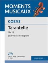 Tarantelle op. 24 Goens Daniel Van Partition laflutedepan.com