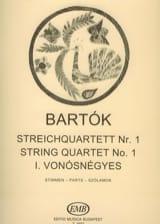 Béla Bartok - Quatuor à cordes n° 1 - Parts - Partition - di-arezzo.fr
