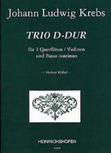 Trio D-Dur - 2 Flöten Violinen Bc Johann Ludwig Krebs laflutedepan