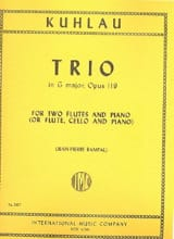 Friedrich Kuhlau - Trio in G major op. 119 – 2 Flutes piano - Partition - di-arezzo.fr