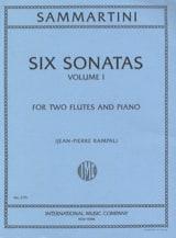 6 Sonatas (Volume 1) -2 flutes piano SAMMARTINI laflutedepan.com