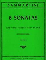 SAMMARTINI - 6 Sonatas Volume 2 - 2 piano flutes - Sheet Music - di-arezzo.com