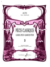 Frédéric Lainé - Classic Volume 3 pieces - Alto - Sheet Music - di-arezzo.co.uk