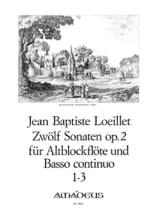 12 Sonates op. 2 : n° 1-3 - Altoblockflöte u/ Bc laflutedepan.com