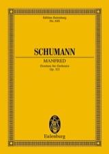 Manfred, Ouverture, Opus 115 SCHUMANN Partition laflutedepan.com