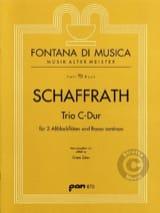 Christoph Schaffrath - Trio C-Dur - 2 Altblockflöten BC - Sheet Music - di-arezzo.com