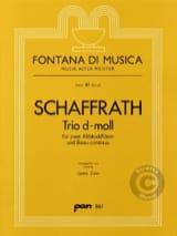 Christoph Schaffrath - Trio d-moll - 2 Altblockflöten BC - Sheet Music - di-arezzo.com