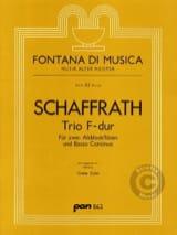 Christoph Schaffrath - Trio F-Dur - 2 Altblockflöten BC - Sheet Music - di-arezzo.com