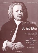 BACH - Da L'opera Omnia Di Js Bach Volume 2 - Hautbois - Partition - di-arezzo.fr