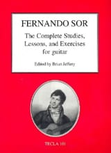 Fernando Sor - The Complete Studies, Lessons and Exercices - Guitar - Sheet Music - di-arezzo.com