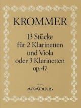 13 Stücke op. 47 –2 Klarinetten u. Viola (o. 3 Klarinetten) - Stimmen - laflutedepan.com